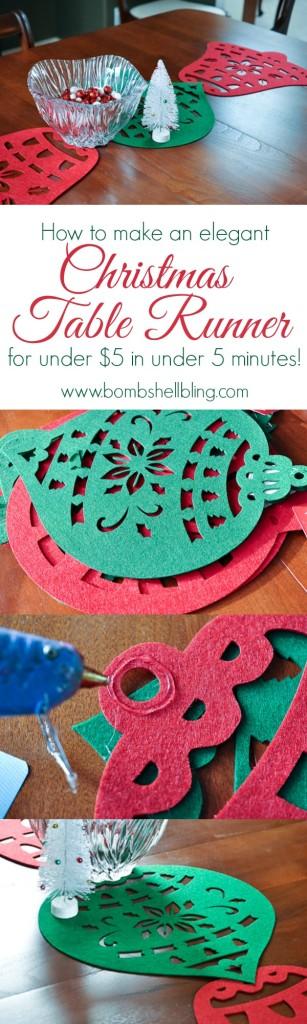 Christmas Table Runner - Bombshell Bling