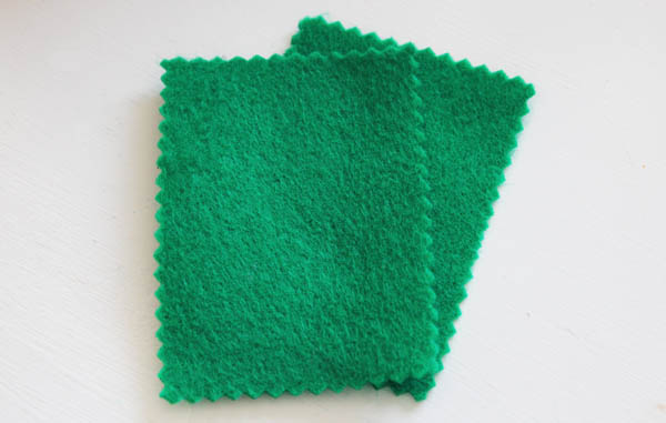 Cut two felt rectangles