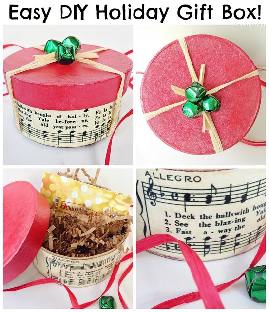 DIY Holiday Gift Box - Pet Scribbles