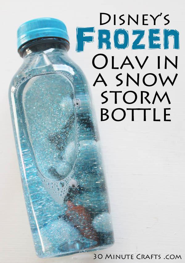 Disney's Frozen Olav in a snow storm bottle