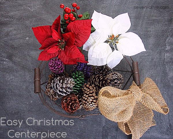 Easy Christmas Centerpiece - Seven Alive