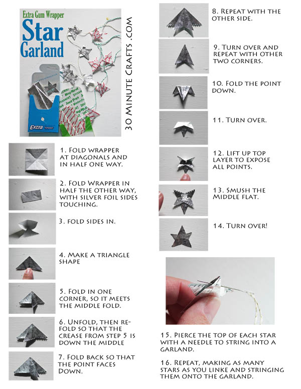 origami from gum wrapper tutorial origami handmade