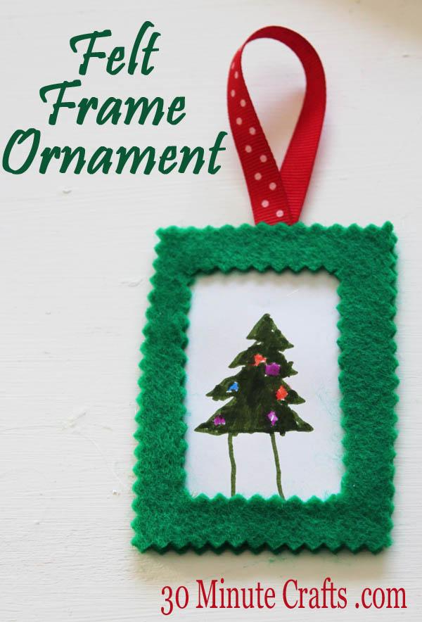 Felt Frame Ornament
