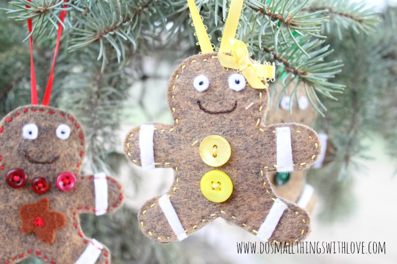 Felt Gingerbread Ornaments - Do Small Things with Love