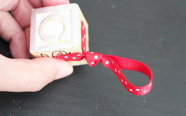 Glue on ribbon