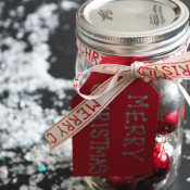 Ornaments in a Jar Neighbor gift