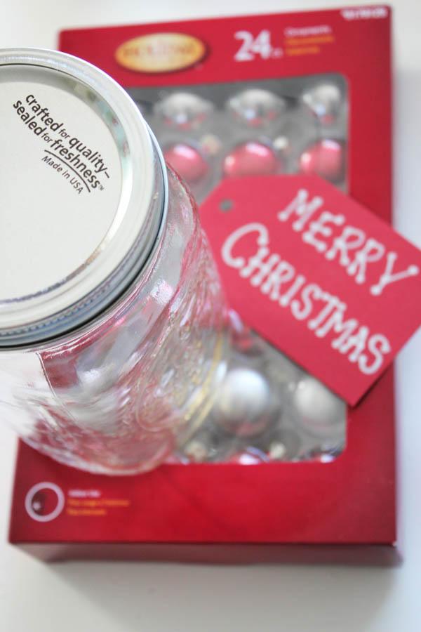 Ornaments in jar supplies
