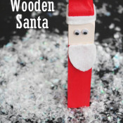 Simple Wooden Santa on 30 Minute Crafts dot Com