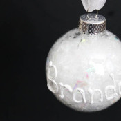 Snow Writing Ornament