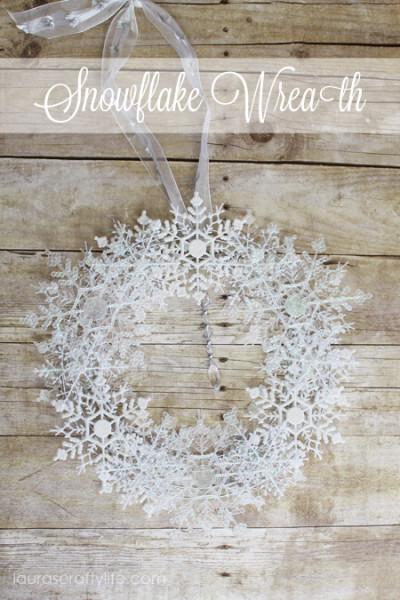 Snowflake Wreath - Lauras Crafty Life