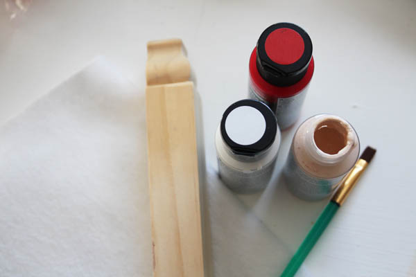 Supplies for Small Wooden Santa