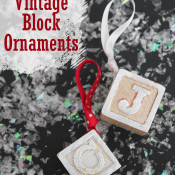 Vintage Block Ornaments at 30 Minute Crafts dot com