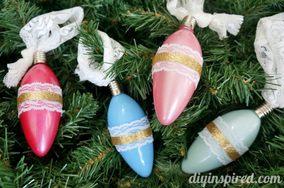 Vintage Inspired Ornaments at DIY Inspired