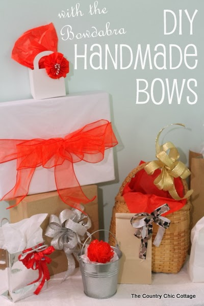 diy handmade bows - the country chic cottage