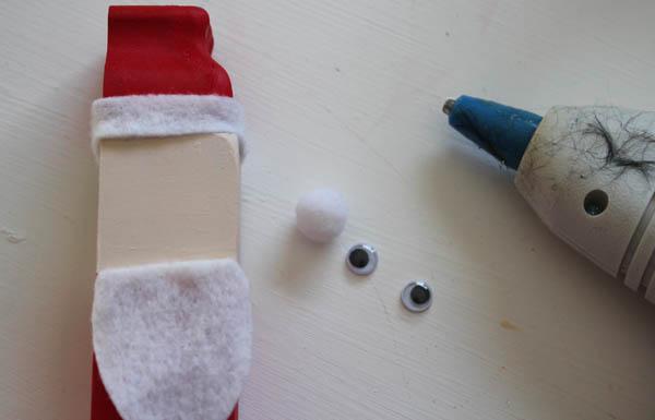 glue on beard and hat rim