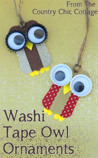 washi tape owl ornament - the country chic cottage