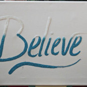 Believe Glitter Canvas