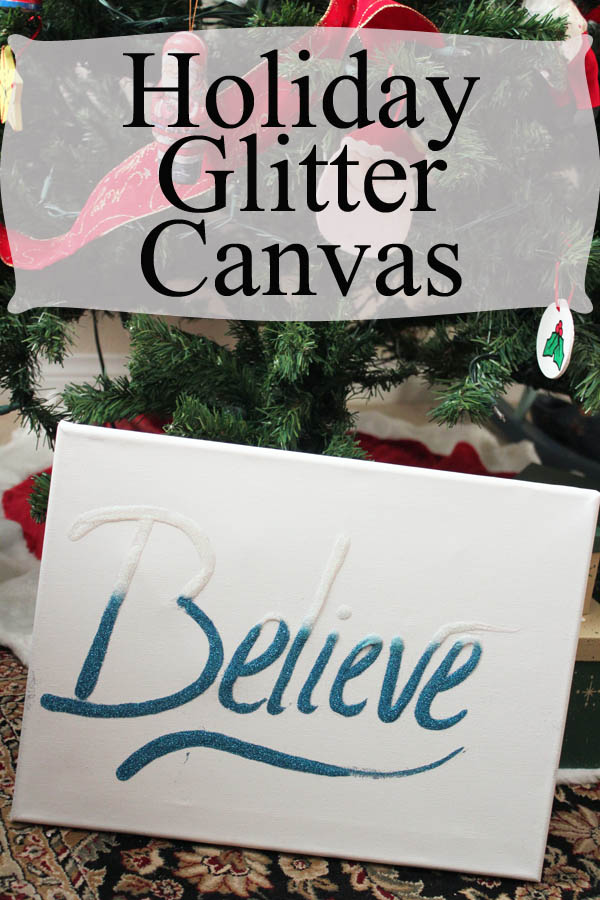 Holiday Glitter Canvas