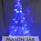 Mason jar lighted tree