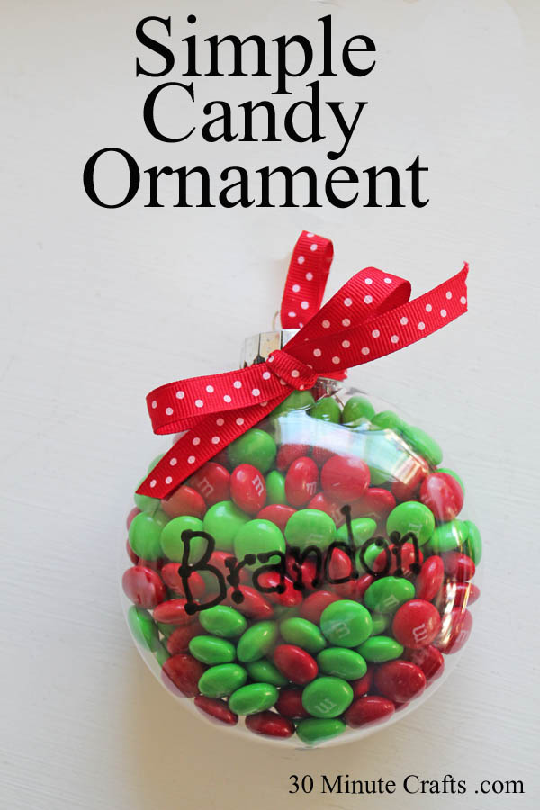 Simple Candy Ornament at 30 Minute Crafts