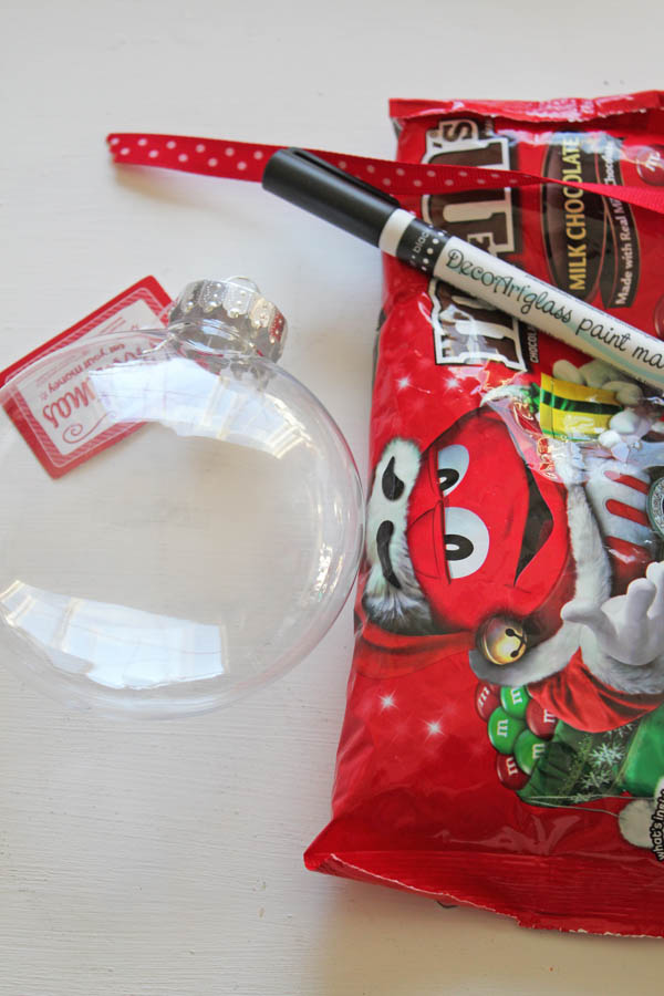 supplies for M&M Ornament