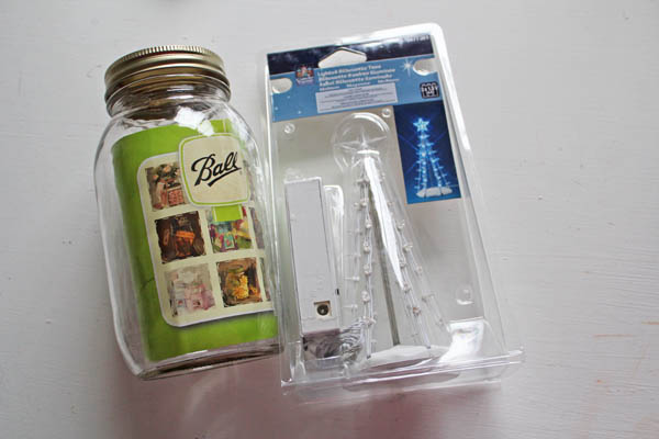 supplies for mason jar tree
