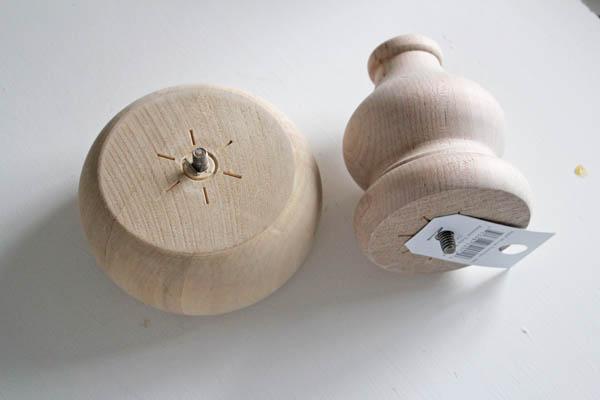 wooden pieces for Santa candlesticks