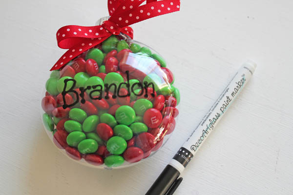 write name on ornament