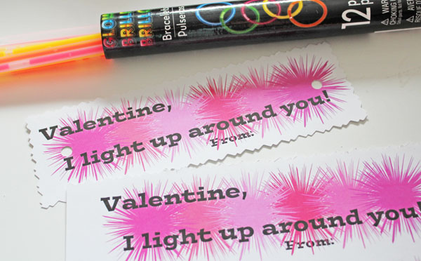 Making Glow Stick Valentines
