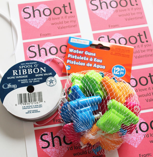Shoot Printable Valentine supplies