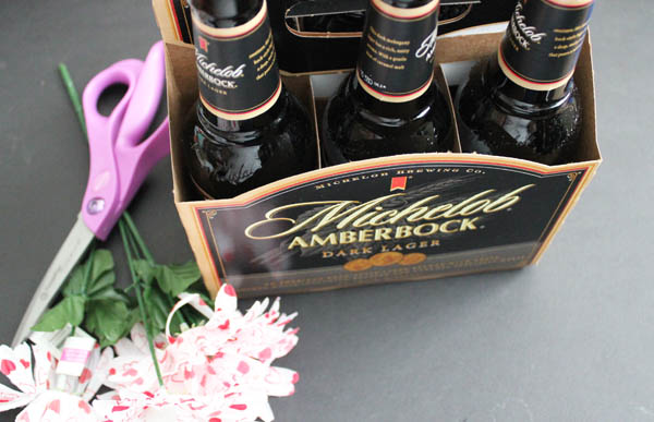 Supplies for Beer Bottle Flowers