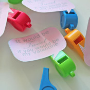 Whistle Valentines for School