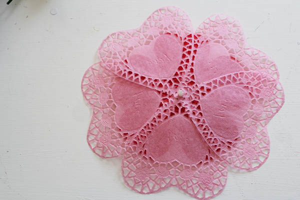 add pink doilies