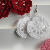 finished doily earrings