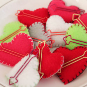 stuffed paperclip hearts