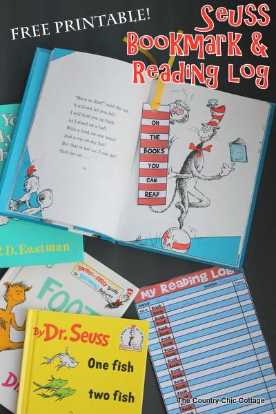 Bookmark and Reading Log Printable