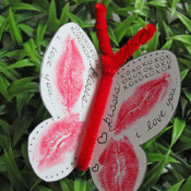 Butterfly kisses craft