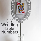 DIY Wedding Table Numbers