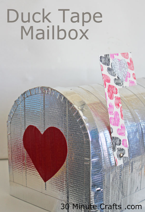 Duck Tape Mailbox on 30 Minute Crafts