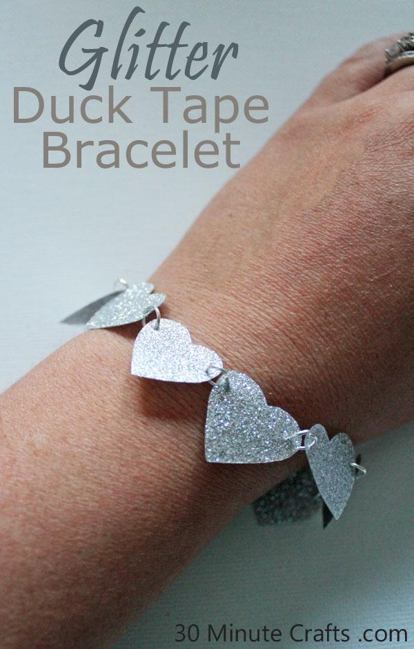 Glitter Duck Tape Bracelet