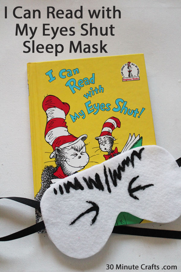 I Can Sleep with My Eyes Shut Sleep Mask
