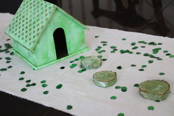 Leprechaun House as table decor