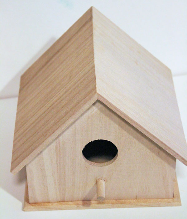 Start with a plain birdhouse