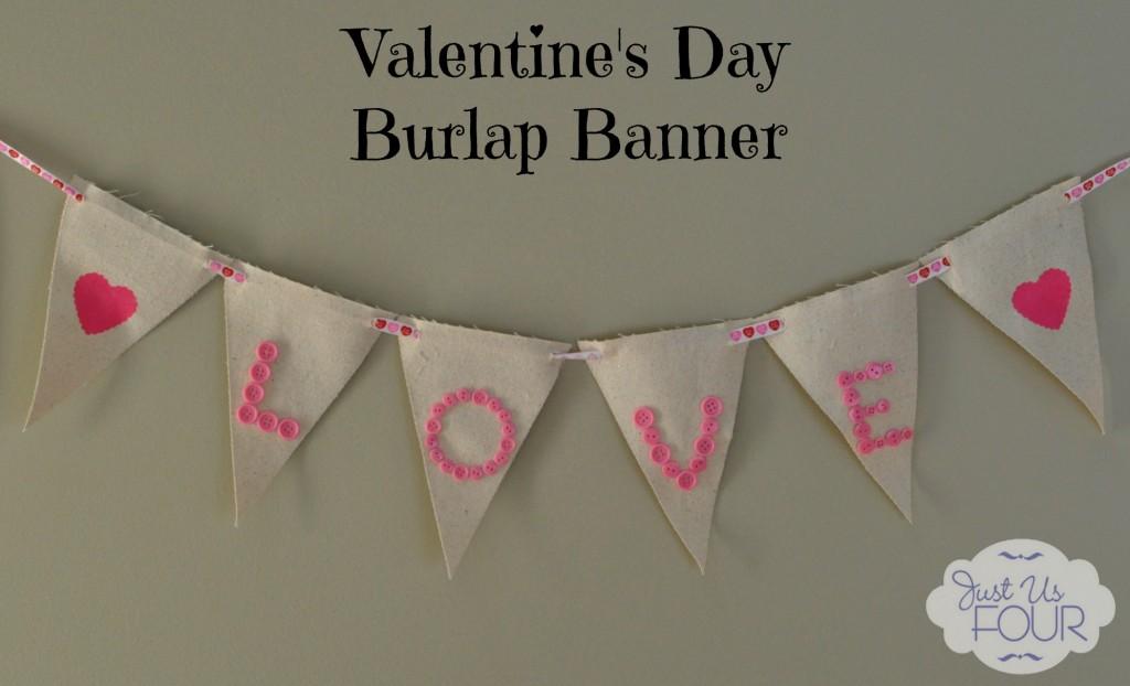 Valentine's Burlap Banner
