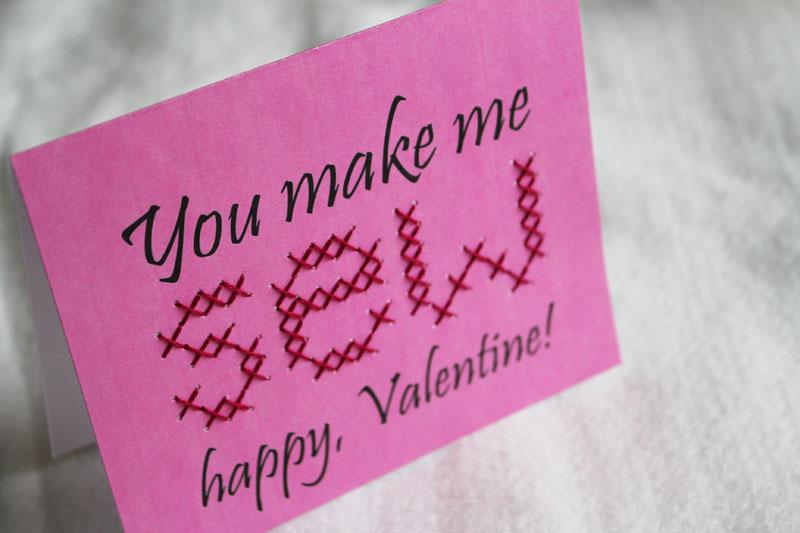 You make me SEW happy Valentine