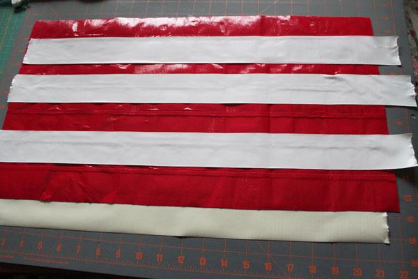 add white stripes