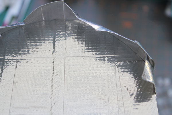 cut flaps around the curve