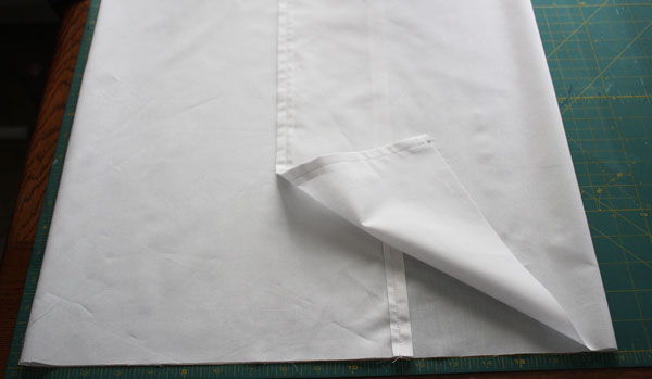 fold sides in