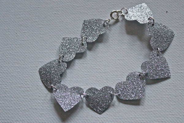 glittered duck tape bracelet