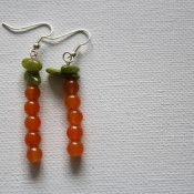 Beaded Carrot Earrings